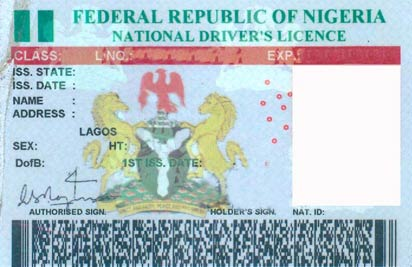 A typical fake licence
