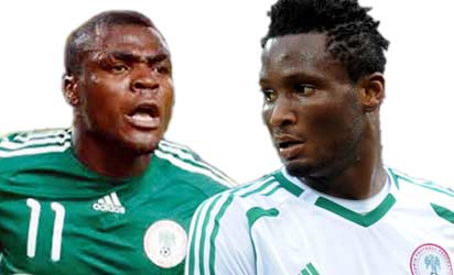 Emenike and Mikel