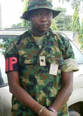 Kabiru John, the fake army major