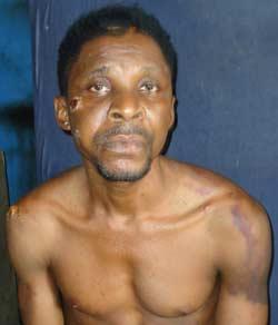 The suspect, Benjamin Ndubuisi.