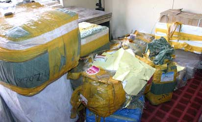 Some of the seized fake products at the briefing, yesterday.  Photo: Biodun Ogunleye.