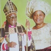 Archbishop Ignatius Kattey with wife Beatrice