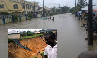 *flooded: Calabar under water. INSET: The valley of deaths.