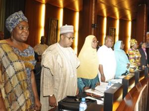 FEC METING: Federal Executive Council meeting at the State House, Abuja, yesterday. Photo: Abayomi Adeshida.