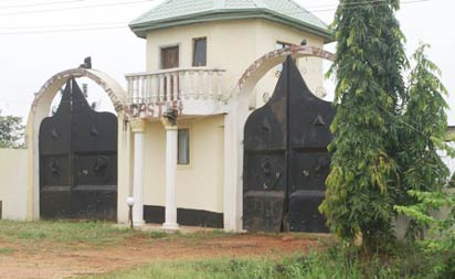 Chief Mike Ozekhome's mansion under lock and key.