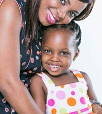 Crystal with daughter Beulah