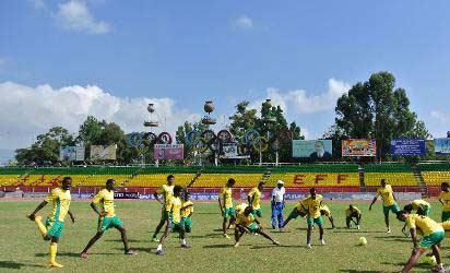 Ethiopians in  training.