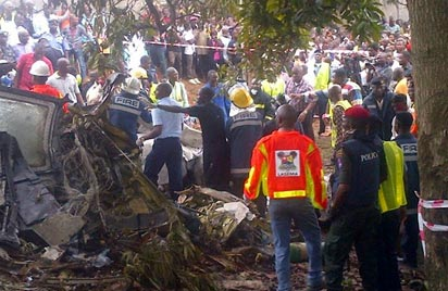 Rescue operation at the scene...photo sent by haydot_bj@yahoo.com