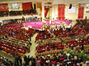 A cross section of worshippers at the closing service of Kingdom Life Conference.