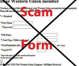 Online dating scams western union