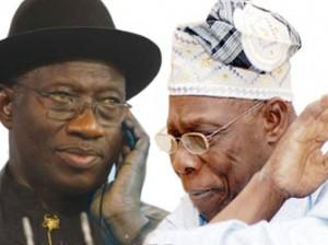 President Jonathan and Chief Obasanjo