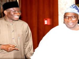 President Goodluck Jonathan  and Chief Olusegun Obasanjo