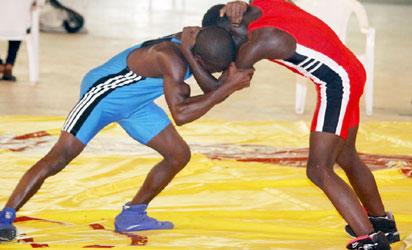 erection during wrestling