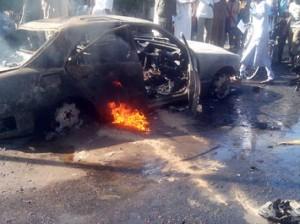 Scene of the blast. AFP