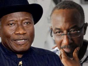 President Goodluck Jonathan and Lamido Sanusi