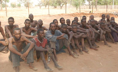 Suspected terrorists arrested while attempting to escape into Cameroon through Taraba and Gumti, Adamawa State.