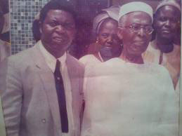 A great mobiliser, Chief Obafemi Awolowo (right) with one of his die-hard supporters, Mr Ayo Opadokun (left)