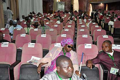 *The empty seats at the confab.