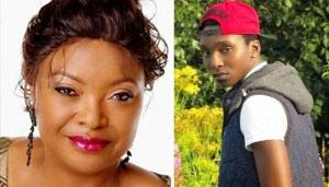 Aisha Falode and late son Toba