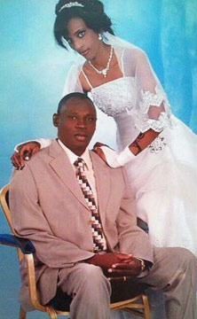 Meriam Yehya Ibrahim, 27, on her wedding day