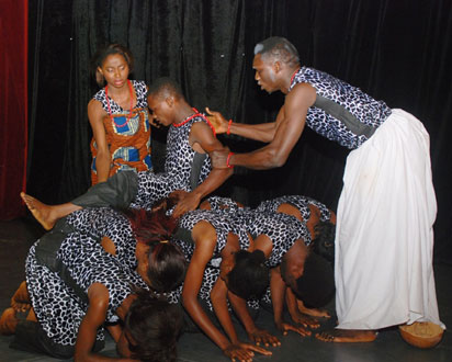 An excerpts from the play performed by Creative Arts depart ment of UNILAG