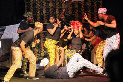 A scene from the play London life Lagos Living