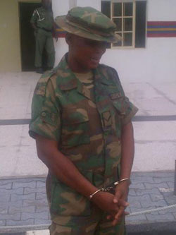 Angela Omieh, the suspect.