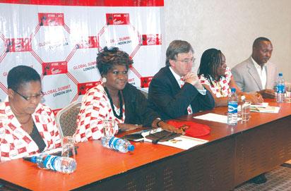 From left: Bose Ironsi, Yemisi Ransom-Kuti: BDHC, Peter Carter; Itoro Eze-Anaba and Chino Obiagwu at the forum.