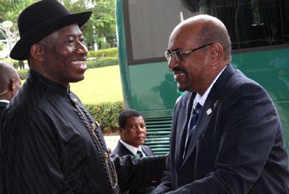 President Jonathan and Omar Albashir of Sudan