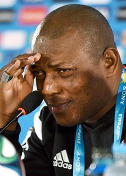 Super Eagles coach Stephen Keshi