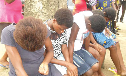 Pregnant teenagers arrested from one of the baby factories in Akwa Ibom recently