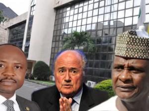 Tamuno Danagogo, Sepp Blatter and Aminu Maigari