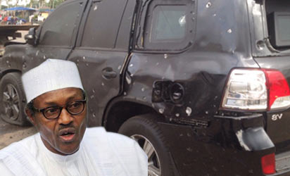 Black jeep of Gen Buhari attacked in Kaduna on Wednesday