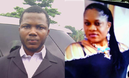 The suspect, Kelechi Williams and  late Njideka Lizzy Nzewe