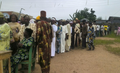 Osun voters during accreditation