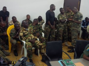 File: The soldiers during  a court martial