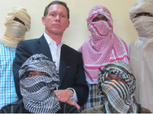 Australian negotiator, Dr. Stephen Davis, and Boko Haram commanders in 2013 after BH reportedly agreed to dialogue