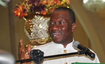 President Goodluck Jonathan speaking at the 54th Independence  Anniversary Interdenominational Church Service at the National Christian  Center, Abuja On Sunday (29/9/14)