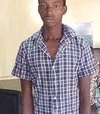 The prime suspect -  20-year-old Adamu Ibrahim