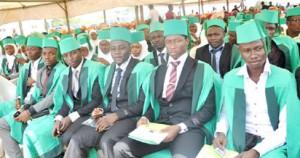A cross section of University graduates