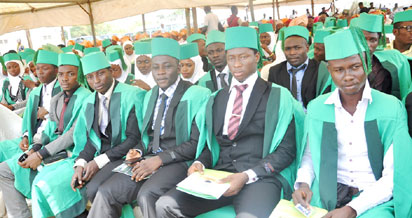 A cross section of University graduates