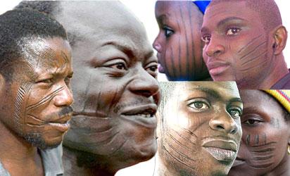 Tribal or facial marks