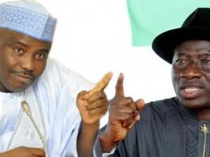 Tambuwal and Goodluck Jonathan