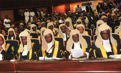Senior Advocates Of Nigeria and other  dignitaries,  at the Valedictory Court Session in honour of retiring Chief Justice of  Nigeria in Abuja on Thursday (20/11/`14).