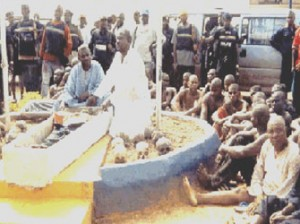 •The suspected Chief Priests and worshippers arrested in 2004 with recovered human skulls