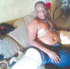 *Chief Ojimba... recuperating following deadly attack.