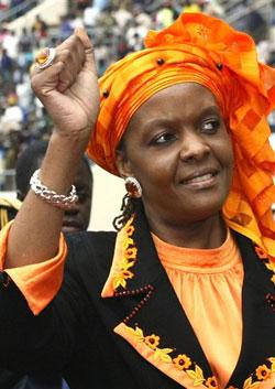 Pin Grace Mugabe Wife Of Zimbabwean