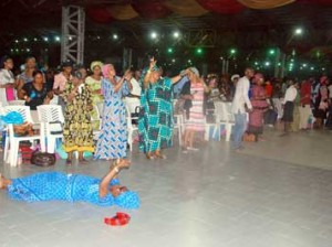 Worshippers praising God during the Praise and Worship on the 2nd day of the RCCG 2014 Holy Ghost Congress