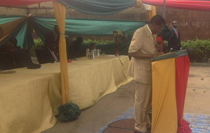 Pastor Adeboye delivering his message