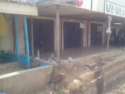 •A shop affected by the robbers  operation